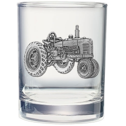 Tractor Double Old Fashioned Glass