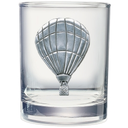 Hot Air Balloon Double Old Fashioned Glass