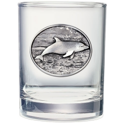 Dolphin Double Old Fashioned Glass