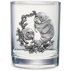 Manatee Double Old Fashioned Glass