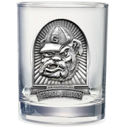 "University of Georgia ""Bulldog"" Double Old Fashioned Glass"