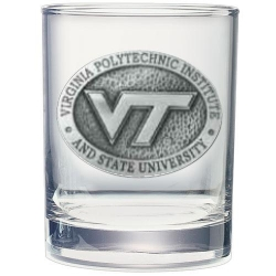 "Virginia Tech University ""VT"" Double Old Fashioned Glass"