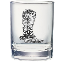 Cowboy Boot Double Old Fashioned Glass