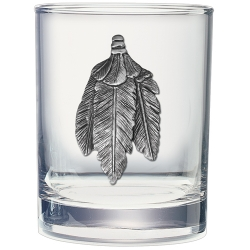 Feathers Double Old Fashioned Glass
