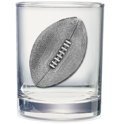 Football Double Old Fashioned Glass