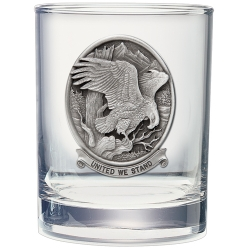 "Bald Eagle ""United We Stand"" Double Old Fashioned Glass"