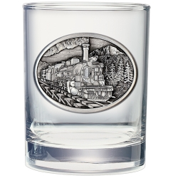 Train Double Old Fashioned Glass