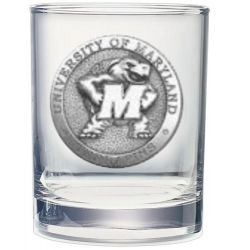 University of Maryland Double Old Fashioned Glass