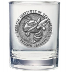 "Georgia Institute of Technology ""Yellow Jackets"" Double Old Fashioned Glass"