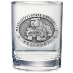 "Mississippi State University ""Bulldogs"" Double Old Fashioned Glass"