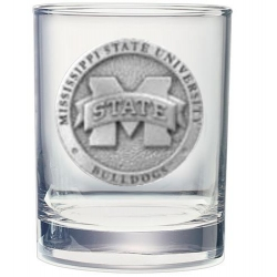 "Mississippi State University ""M"" Double Old Fashioned Glass"