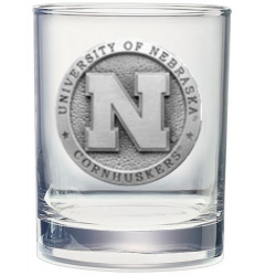 University of Nebraska Double Old Fashioned Glass