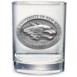 University of New Mexico Double Old Fashioned Glass
