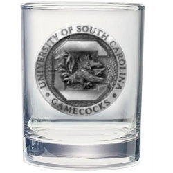 "University of South Carolina ""Gamecocks"" Double Old Fashioned Glass"