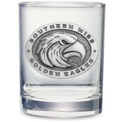 University of Southern Mississippi Double Old Fashioned Glass