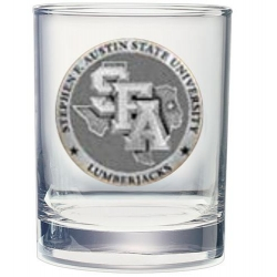 Stephen F. Austin University Double Old Fashioned Glass