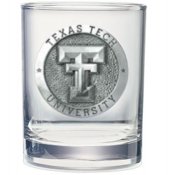 Texas Tech University Double Old Fashioned Glass