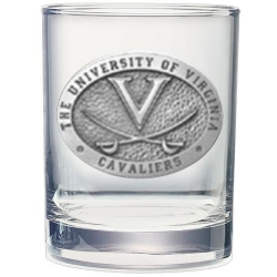 University of Virginia Double Old Fashioned Glass