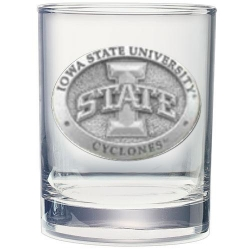 "Iowa State University ""I"" Double Old Fashioned Glass"