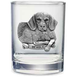 Beagle Double Old Fashioned Glass