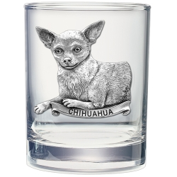 Chihuahua Double Old Fashioned Glass