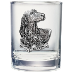 Irish Setter Double Old Fashioned Glass