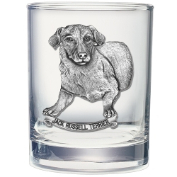 Jack Russell Terrier Double Old Fashioned Glass