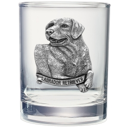 Labrador Retriever Double Old Fashioned Glass
