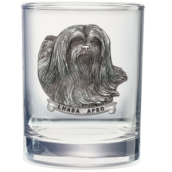 Lhasa Apso Double Old Fashioned Glass