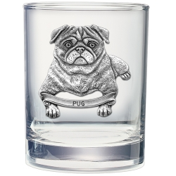 Pug Double Old Fashioned Glass