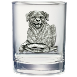 Rottweiler Double Old Fashioned Glass