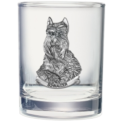 Schnauzer Double Old Fashioned Glass