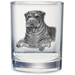 Shar-Pei Double Old Fashioned Glass