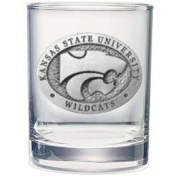 Kansas State University Double Old Fashioned Glass