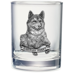 Siberian Husky Double Old Fashioned Glass