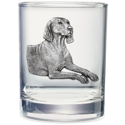 Weimaraner Double Old Fashioned Glass