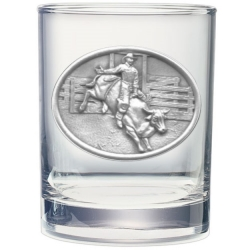 Bull Rider Double Old Fashioned Glass