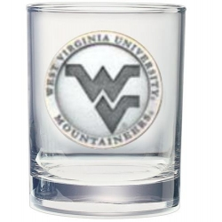 West Virginia University Double Old Fashioned Glass