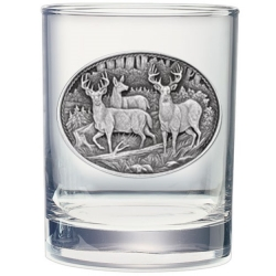 Whitetail Deer Double Old Fashioned Glass #2