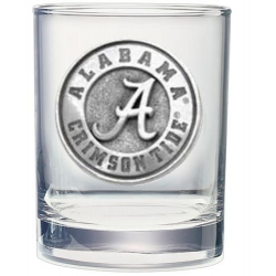 "Alabama ""A"" Crimson Tide Double Old Fashioned Glass"
