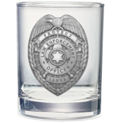 Law Enforcement Double Old Fashioned Glass