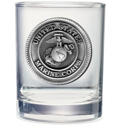 "Marine Corps ""USMC"" Double Old Fashioned Glass"