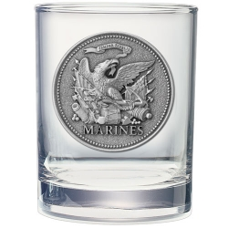 "Marine Corps ""Historic"" Double Old Fashioned Glass"
