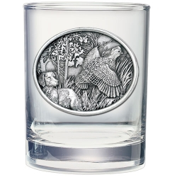 Bobwhite Quail Double Old Fashioned Glass