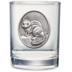 Chipmunk Double Old Fashioned Glass