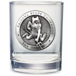 "ASU ""Sparky"" Double Old Fashioned Glass"