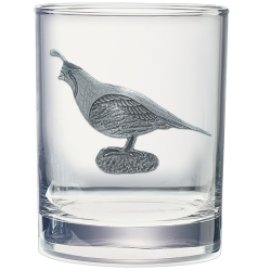 Quail Double Old Fashioned Glass