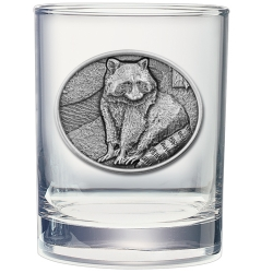 Racoon Double Old Fashioned Glass