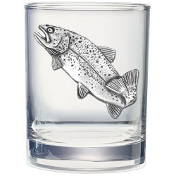 Trout Double Old Fashioned Glass