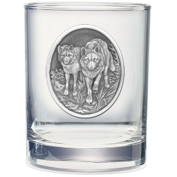 Wolves Double Old Fashioned Glass